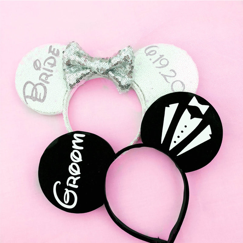 Bride and Groom Ears (Many Color Options)