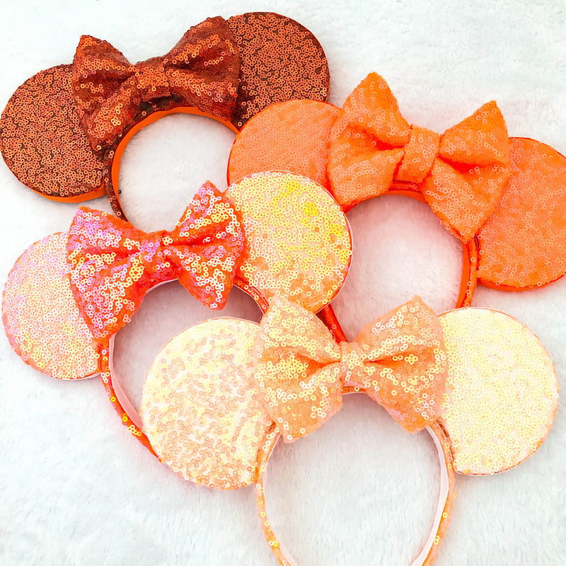 Orange Sequin Ears