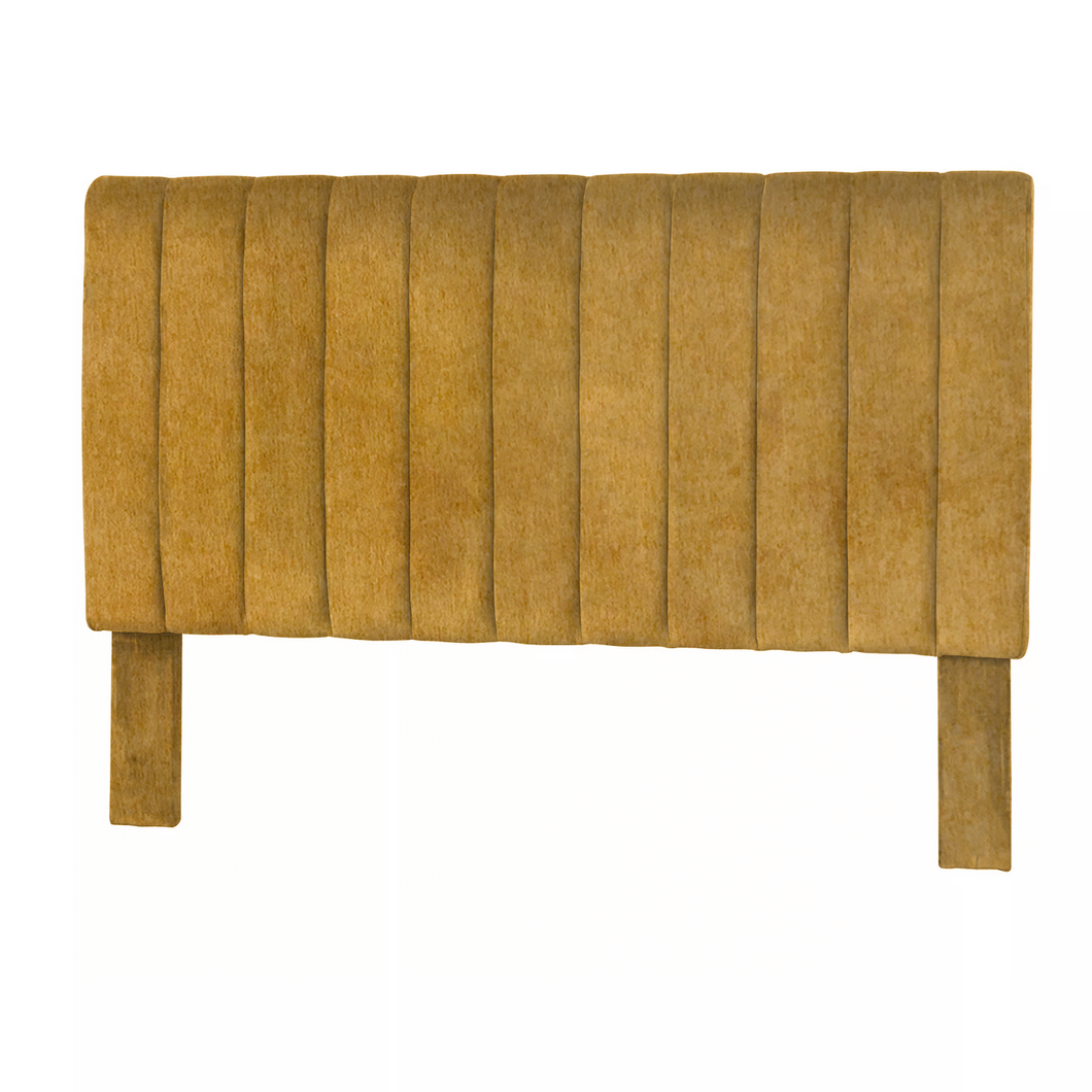 Ochre Yellow Velvet Vertical Headboard