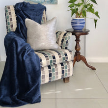 Load image into Gallery viewer, Navy Throw - Linen & Myrrh
