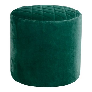 Emerald Green Velvet Diamond Ottoman