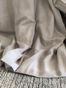 Grey Eyelet Curtain - Linen & Myrrh