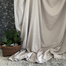 Load image into Gallery viewer, Grey Eyelet Curtain - Linen & Myrrh