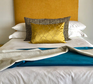 Teal Ocean Velvet Reversible Throw