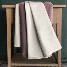Load image into Gallery viewer, Mauve Velvet Reversible Throw