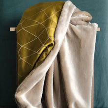 Load image into Gallery viewer, Chartreuse Reversible Throw