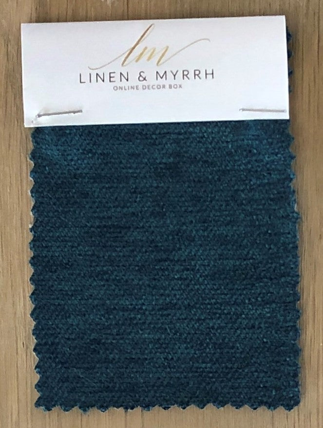 Teal Ocean Velvet Sample