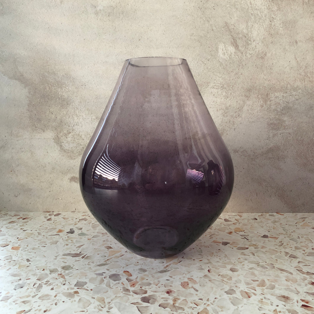 Purple Teardrop Vase