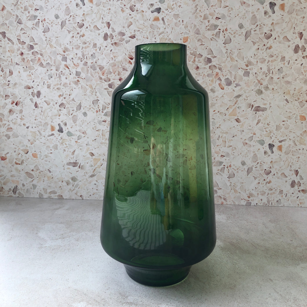 Forest Green Modernist	Vase