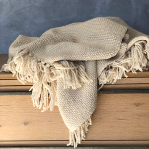 Natural Cotton Throw