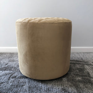 Crown Caramel Diamond Ottoman