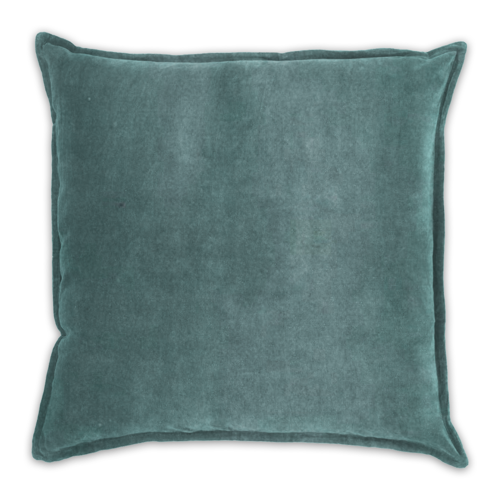 Duck Egg Velvet Forest Scatter Cushion