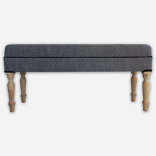 Load image into Gallery viewer, Black & White Ottoman - Linen & Myrrh