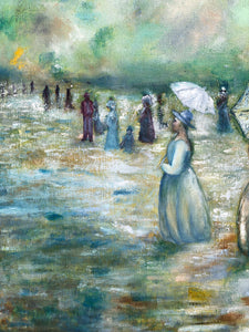 The Umbrella ladies Painting - Linen & Myrrh