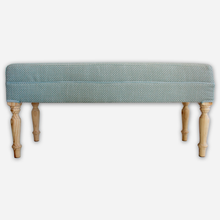 Load image into Gallery viewer, Sea Green & White Ottoman - Linen & Myrrh
