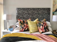 Load image into Gallery viewer, Black & Silver Headboard - Linen & Myrrh