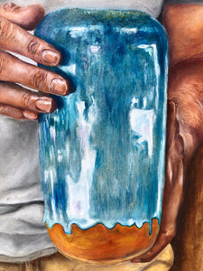 Jonah and the pot painting - Linen & Myrrh