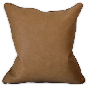 Faux Leather Scatter Cushion - Linen & Myrrh