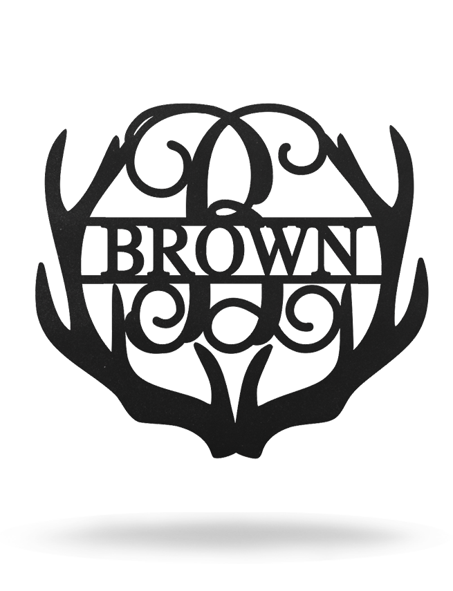 Antler Name Monogram