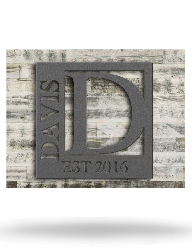 Wood Backed Davis Monogram