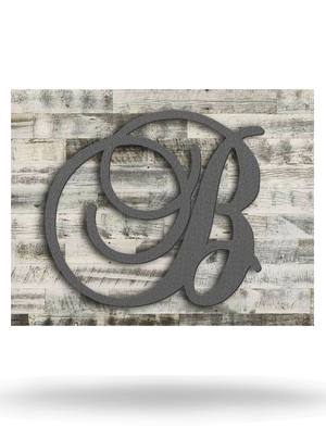 Wood Backed Script Single Monogram