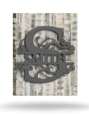 Wood Backed Smith Split Monogram