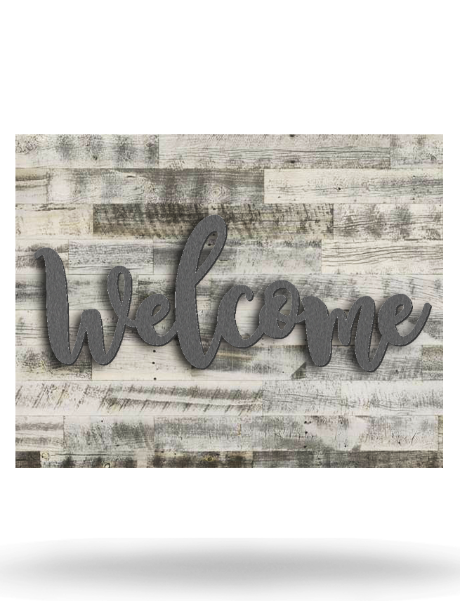 Wood Backed Welcome