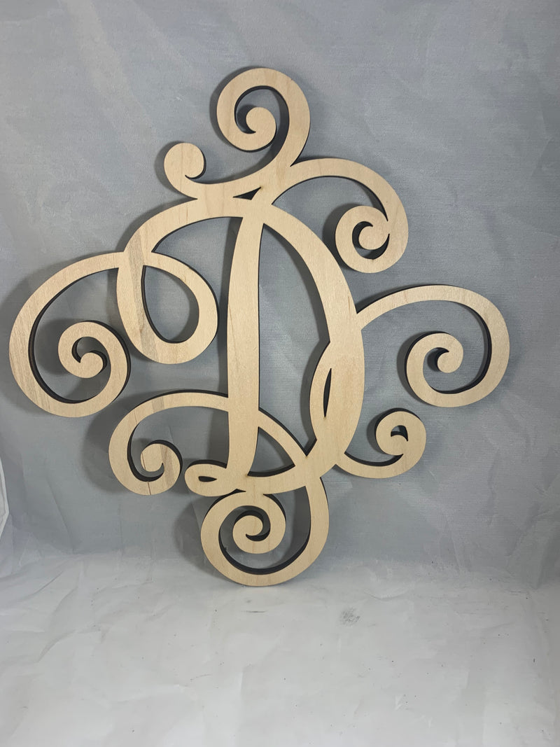 Wooden Elegant Single Letter