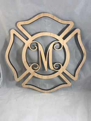 Wooden Firefighter Sign