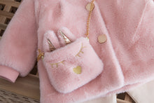 Load image into Gallery viewer, Girls teddy bear coat and handbag