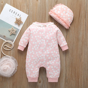 Newborn rabbit babygrow with matching hat.