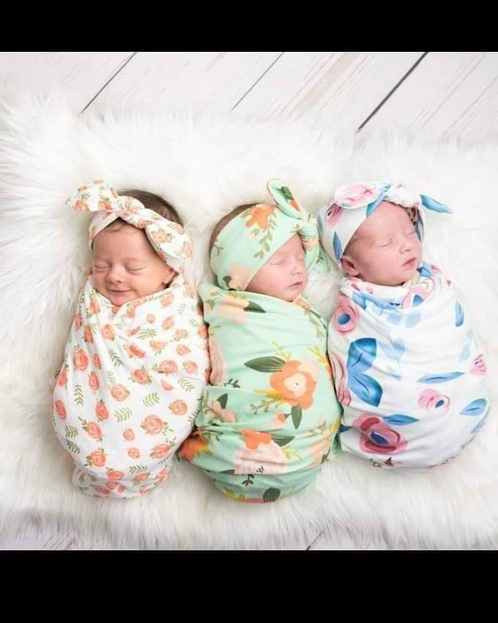 Adorable baby swaddles