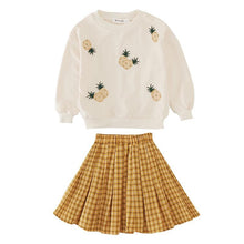 Load image into Gallery viewer, Pineapple 2 piece skirt and jumper
