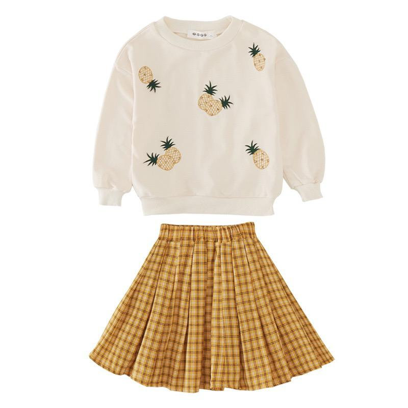 Pineapple 2 piece skirt and jumper