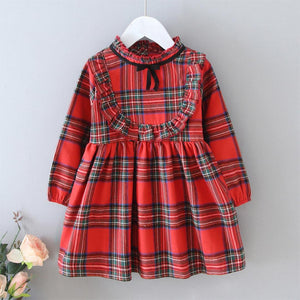 Tartan red party dress