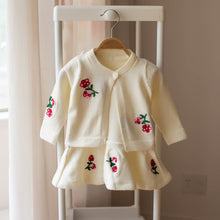 Load image into Gallery viewer, Girls knitwear dress and cardigan sets