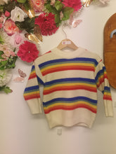 Load image into Gallery viewer, Boys cosy rainbow coloured jumper