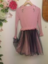 Load image into Gallery viewer, Pink knit and purple tutu dress
