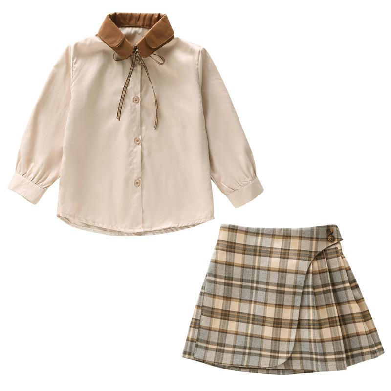 Older girls shirt and skirt set.