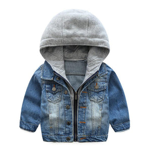 Boys denim casual inspired jacket.