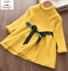 High collared jumper dress