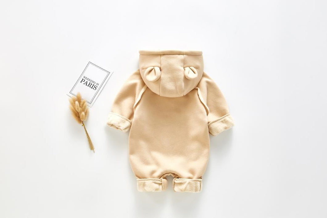 Unisex fleece lined teddy onesie