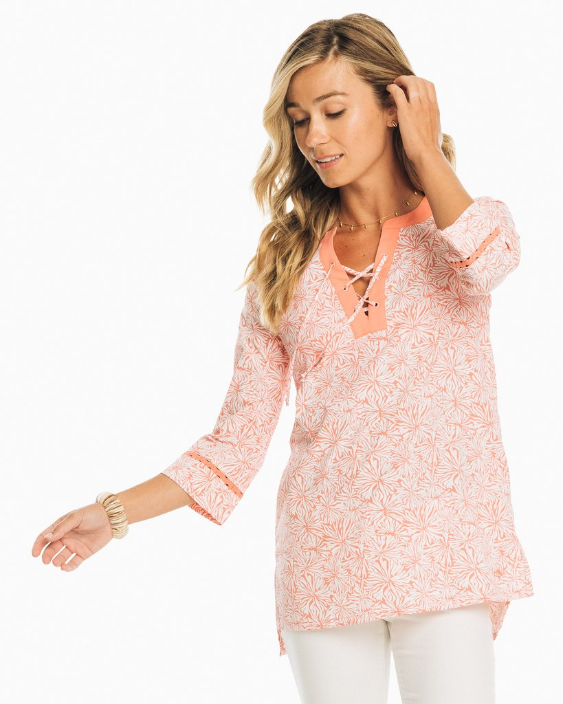 ST W HAILEY PRINTED PERF TUNIC