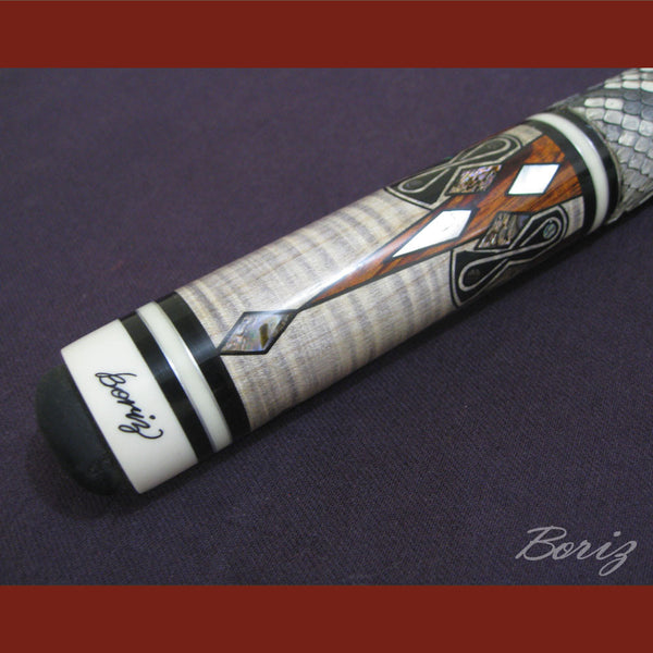 Boriz Billiards Snake Skin Grip Pool Cue Stick Original Inlays New - borizcustom