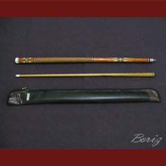 Boriz Billiards Brown Snake Skin Grip Pool Cue Stick Original Inlays New - borizcustom