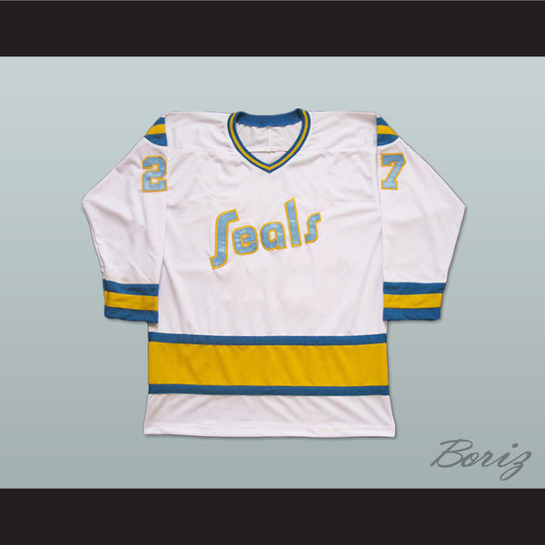 Gilles Meloche Golden Seals Hockey Jersey Stitch Sewn All Sizes - borizcustom - 1
