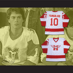 MUSTANGS Hockey Jersey Youngblood Movie Rob Lowe Sewn New All Sizes - borizcustom