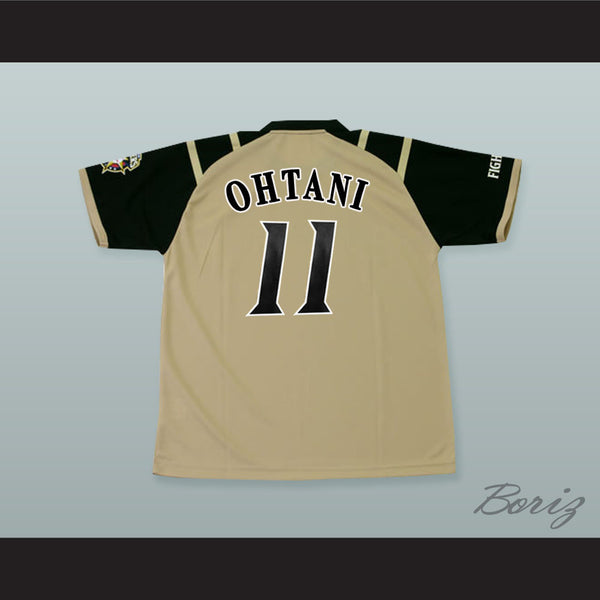 new products 25a69 62c4d Shohei Ohtani 11 Hokkaido Nippon-Ham Fighters Tan Baseball Jersey with Patch