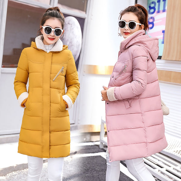 89dbe09bdee9b 2018 New Parkas Female Women Winter Coat Thickening Cotton Winter Jack