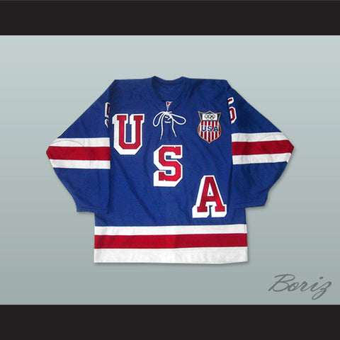 1960 Herb Brooks 5 USA Hockey Jersey with Patch - borizcustom - 1